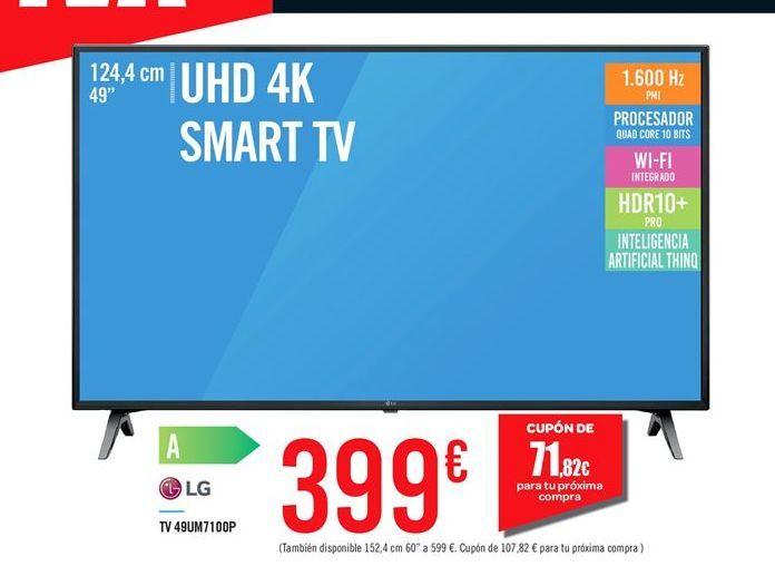 Oferta de TV 49UM7100P LG por 399鈧�
