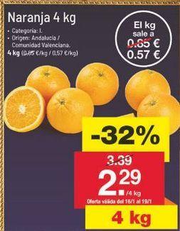 Oferta de Naranjas por 2.31鈧�