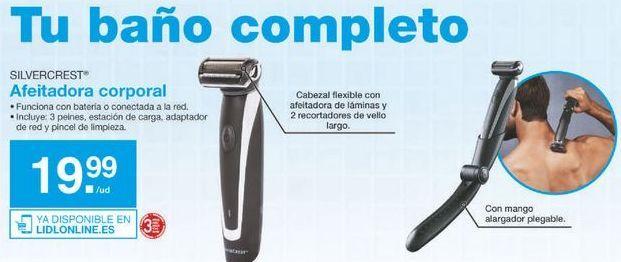 Oferta de Afeitadora corporal SilverCrest por 19.99鈧�