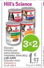 Oferta de Comida para perros HILL'S SCIENCE por 1.97€