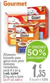 Oferta de Comida para gatos Gourmet por 2.02€