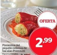 Oferta de Pimientos del piquillo rellenos de bacalo Premium por 2.99€