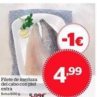 Oferta de Filete de merluza del cabo con piel extra por 4.99€