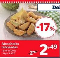 Oferta de Alcachofas rebozadas por 2.48€