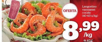 Oferta de Langostino vannamel cocido por 8.99€