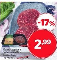 Oferta de Hamburguesas de ternera Bio por 2.98€