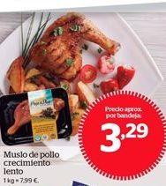 Oferta de Muslo de pollo crecimiento lento por 3.29€