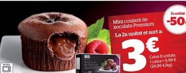 Oferta de Mini coulant de chocolate Premium por 2.25€