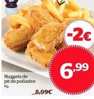 Oferta de Nuggets de pechuga de pollo por 6.99€