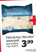 Oferta de Filete de merluza del cabo sin piel por 3.85€