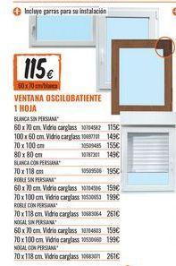Oferta de Ventana oscilobatiente por 115€