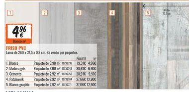 Oferta de Friso PVC por 4.96€