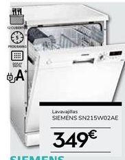 Oferta de Lavavajillas Siemens por 349€