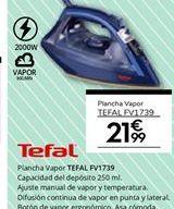 Oferta de Plancha de vapor Tefal por 21.99€