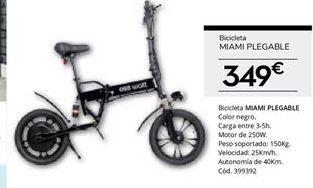 Oferta de Bicicleta plegable por 349€