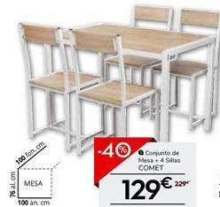 Oferta de Conjunto mesa y sillas por 137.4€