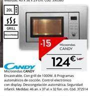 Oferta de Microondas Candy por 126.65€