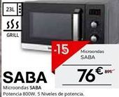 Oferta de Microondas con grill Saba por 76.49€