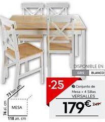 Oferta de Conjunto mesa y sillas por 186.75€
