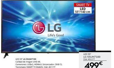 Oferta de Smart tv led 55'' LG por 499€