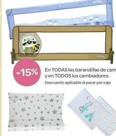 Oferta de En TODAS las barandillas de cama y en TODOS los cambiadores.  por