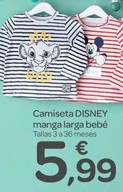 Oferta de Camiseta disney manga larga bebé por 5.99€