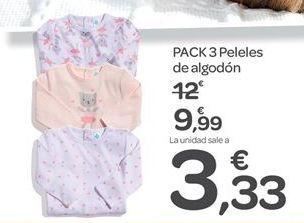 Oferta de PACK 3 Peleles de algodón  por 9.99€