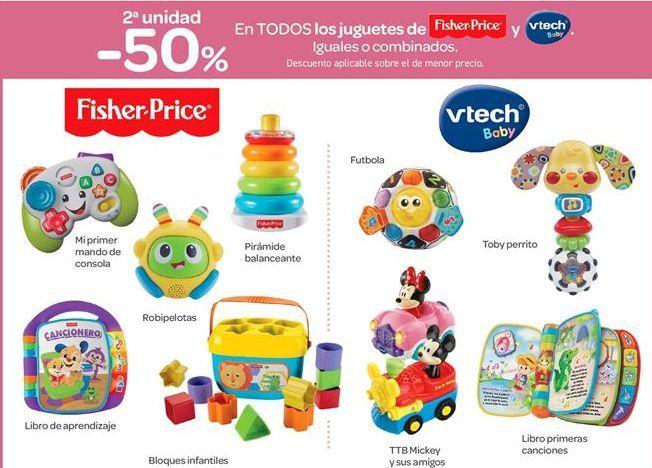 Oferta de En TODOS los juguetes de  Fisher Price y Vtech Baby. por