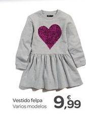 Oferta de Vestido felpa por 9.99€