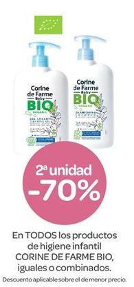Oferta de En TODOS los productos de higiene infantil CORINE DE FARME BIO por