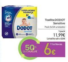 Oferta de Toallita DODOT Sensitive  por 11.99€