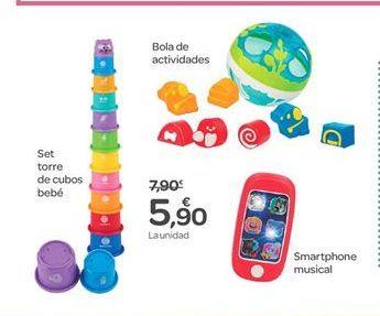 Oferta de Set torre de cubos bebé , Bola de actividades o Smartphone musical por 5.9€