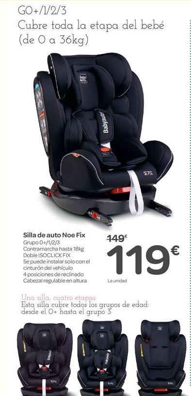 Oferta de Silla de auto Noe Fix por 119€