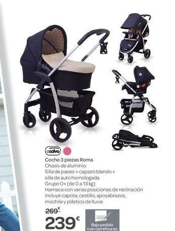 Oferta de Coche 3 piezas Roma Asalvo por 239€