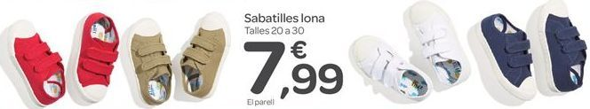 Oferta de Zapatilla lona por 7.99€