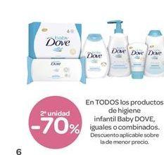 Oferta de En TODOS los productos de higiene infantil Baby DOVE, iguales o combinados por 1€