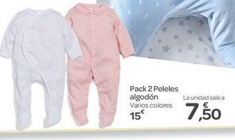 Oferta de Pack 2 peleles algodón  por 15€