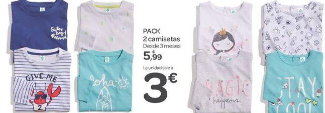 Oferta de PACK 2 camisetas  por 5.99€