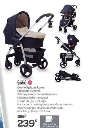 Oferta de Coche 3 piezas Roma  por 239€