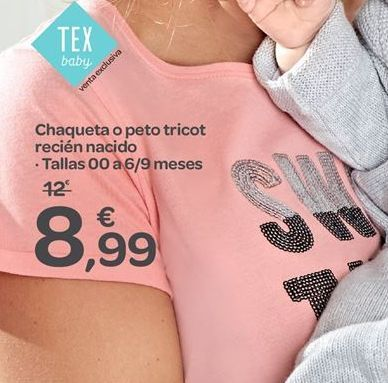 Oferta de Chaqueta o peto tricot recién nacido  por 8.99€