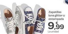 Oferta de Zapatillas lona glitter o estampada  por 9.99€