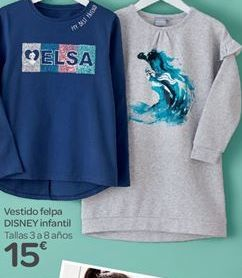 Oferta de Vestido Felpa Disnet infantil  por 15€