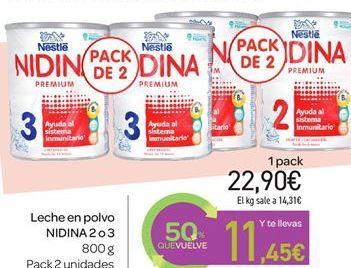 Oferta de Leche en polvo NIDINA por 22.9€