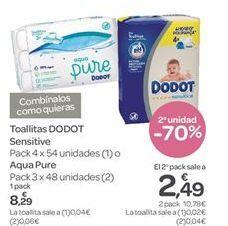 Oferta de Toallitas DODOT Sensitive por 8.29€