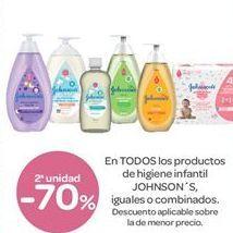Oferta de En TODOS los productos de higiene infantil JOHNSON'S, iguales o combinados  por