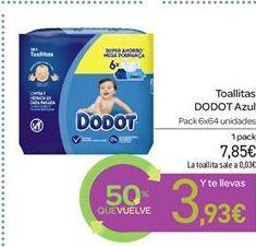 Oferta de Toallitas Dodot Azul por 7.85€