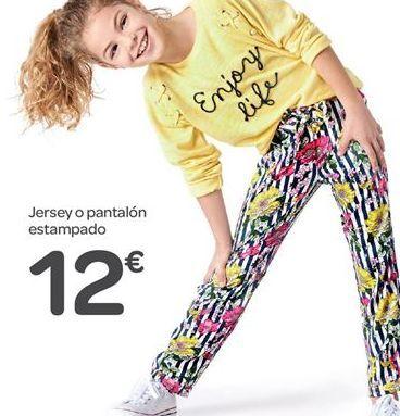 Oferta de Jersey o pantalón estampado por 12€