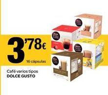 Oferta de Cápsulas de café Dolce Gusto por 3.78€