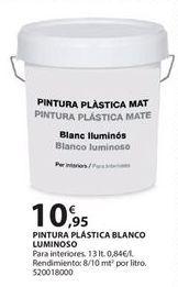 Oferta de Pintura plástica blanca por 10.95€