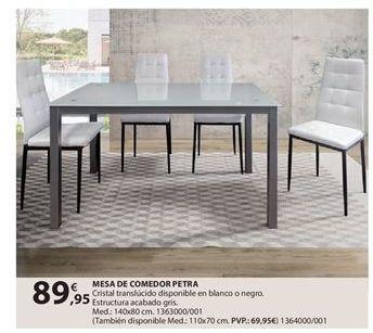 Oferta de Mesa de comedor por 89.95€